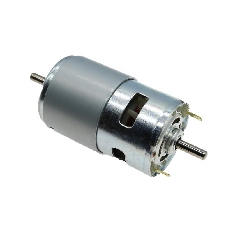 12V Large Torque Double Bearing High Speed 795 Dual Shaft DC Motor