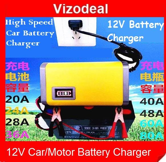 12V Lead-acid Battery Charger Smart Charger For Motorcycle/Car Battery