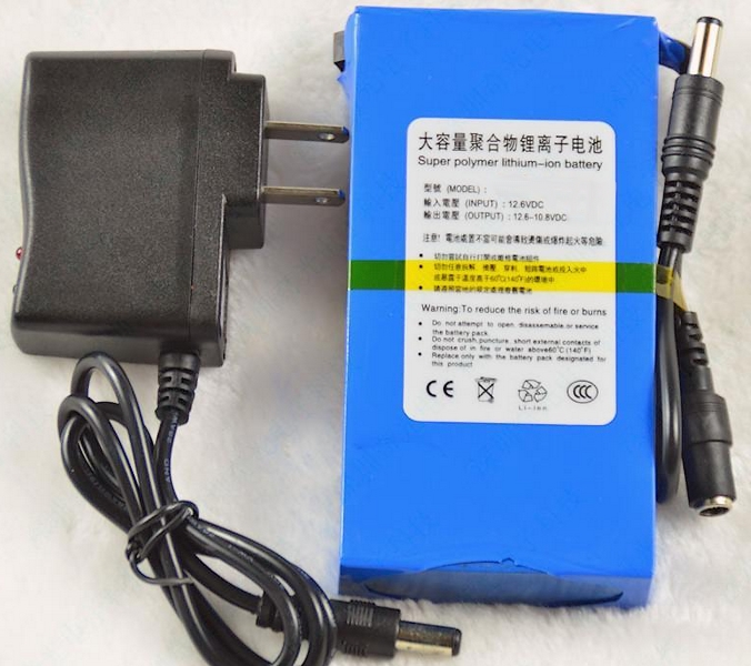 12V Rechargeable Lithium Ion UPS Battery with Charger