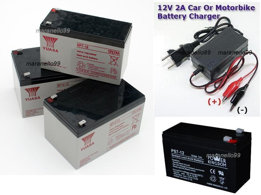 12V Volt 2 Ampere Hour Sealed Lead Acid Smart Battery Charger New