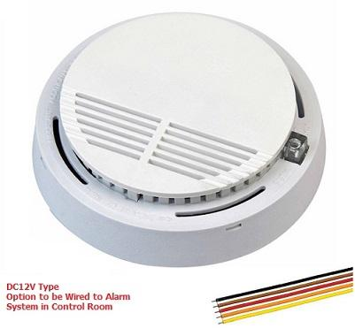12V Wired Smoke Detector for Alarm System