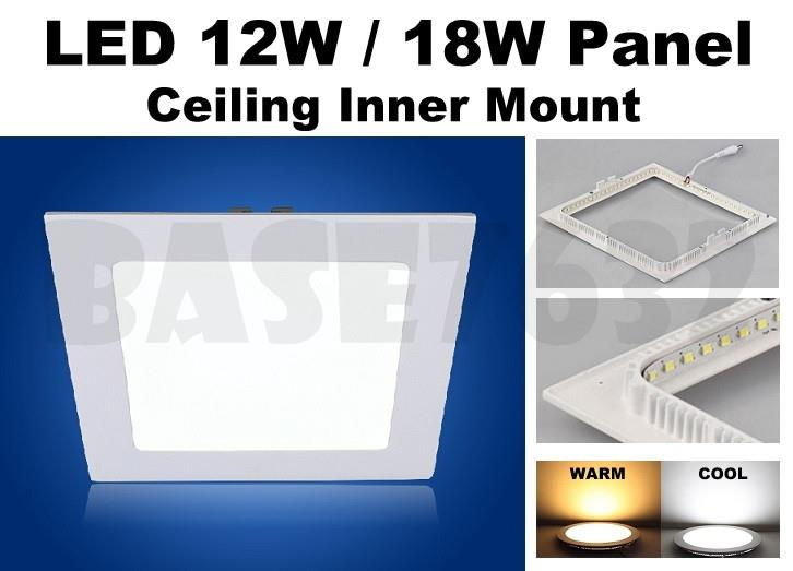 12W 18W  LED Ceiling Panel Inner Mount Downlight Wall LED Light Bulb