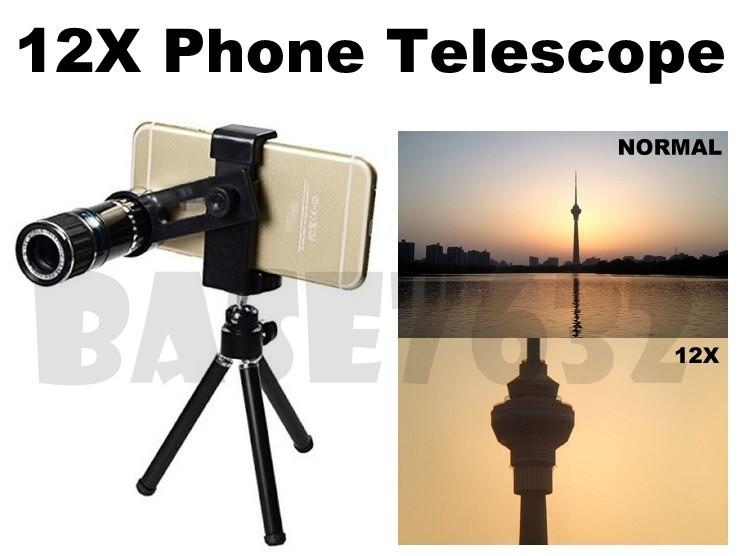 12X  Mobile Phone Optical Zoom Camera Telescope Binocular Lens Iphone