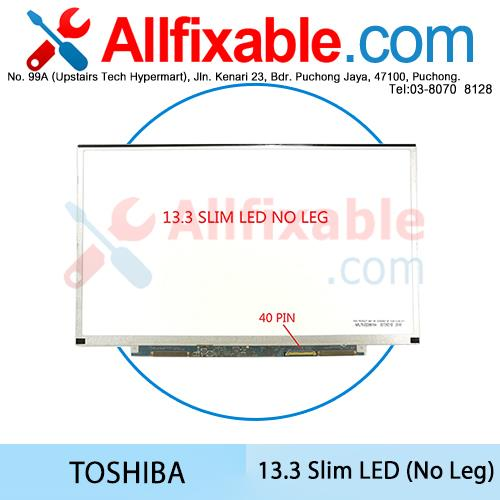 13.3 Slim LED Screen 40pin No Leg Toshiba Portege R830 R700  R705 R731