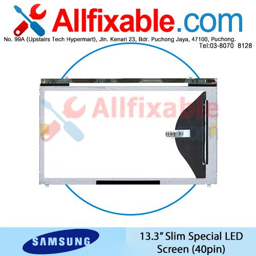 "13.3"" Slim Special LED LCD (40pin) Screen For Samsung NP530U3B"