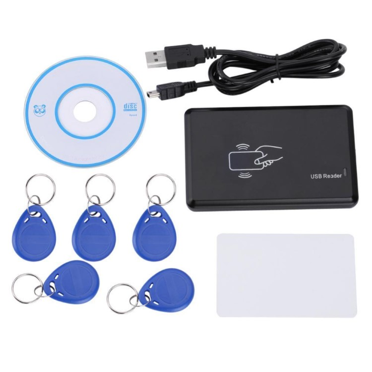 13.56MHz USB RFID IC ID Card Reader Writer Keyfob Program Kad