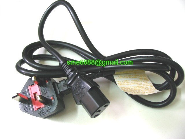 *13 Amp 3 pin Power ^Cord Fuse Cable Fuse CPU Computer Printer PC