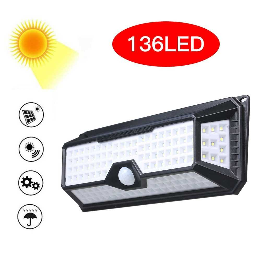136 LEDs Solar Light PIR Motion Sensor Wall Lamp (Type 2)