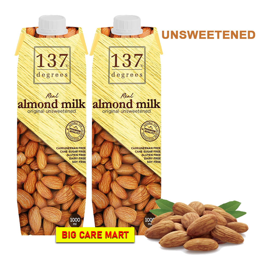 137 Degrees Almond Milk Unsweetened 1000ml X 2bottles