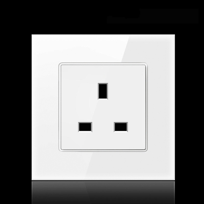 13a British 86/146 Square Foot Three-prong Outlet Socket USB La - [B1]