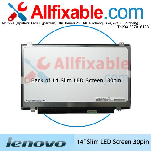 14' Slim LED LCD (30pin) Screen For Lenovo Ideapad G40-70