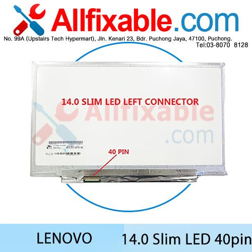 14 Slim LED Screen (40pin) Lenovo ThinkPad X1 Carbon Non-Touch