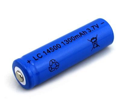 14500 Rechargeable 1300mAh 3.7V Battery LC-14500