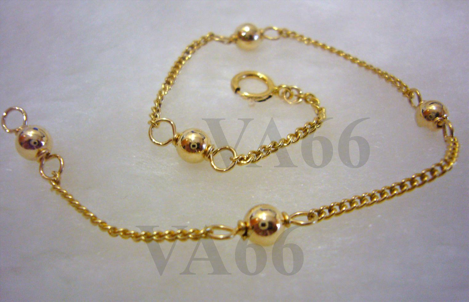 69b87a45b 14k Gold Filled Bracelet with Bali Beads Simple and Elegant. ‹ ›