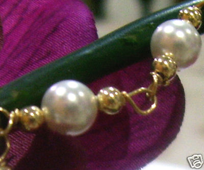 14K Gold Filled Swarovski Crystal Pearl Bracelet Suasa Choose Colours
