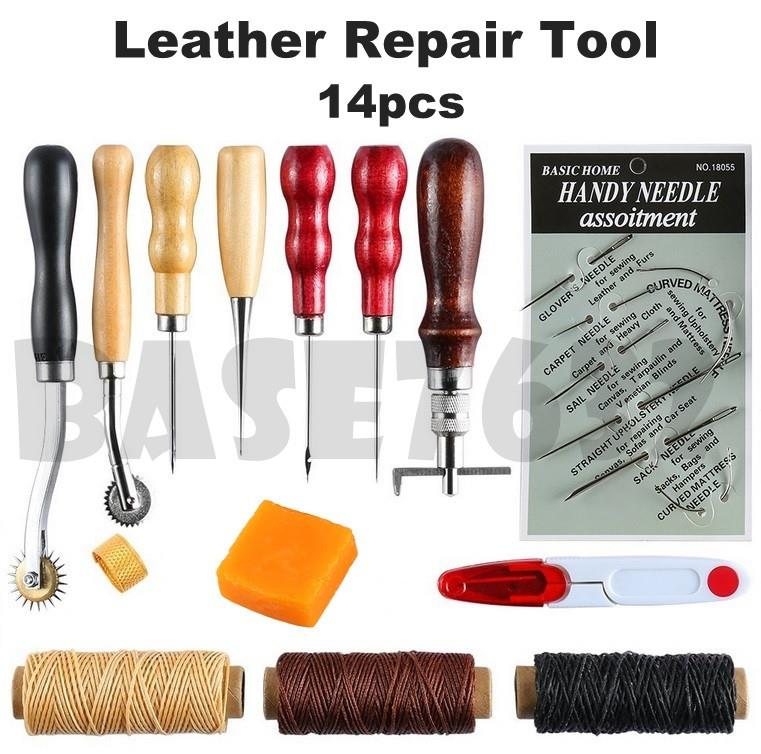 14pcs  DIY Leather Hand Sewing Stitching Craft Repair Tool Tools Kit