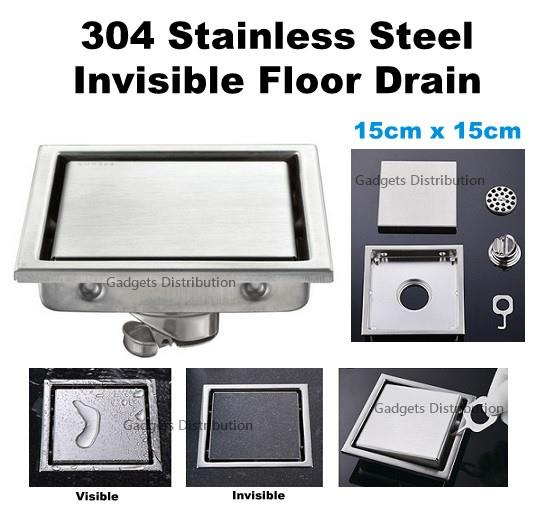 15*15cm Invisible 304 Stainless Steel Anti Odor Floor Drain 2619.1