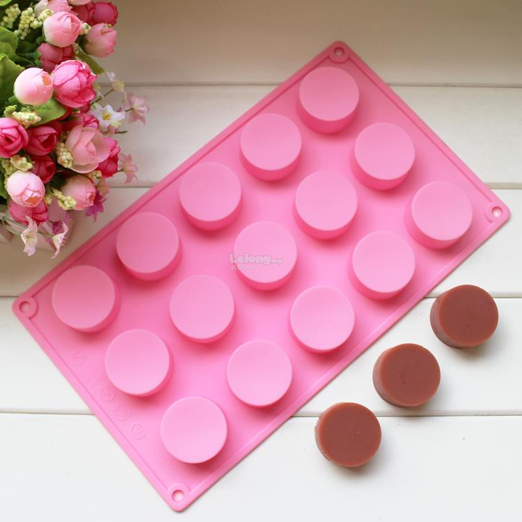 15 Cavities Round Silicone Mould Mold Chocolate Cake Jelly
