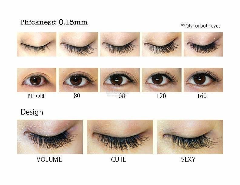 15 Rows Eyelash Extension,3D Colorful Ombre Mink Silk Hair Mix 5 Color