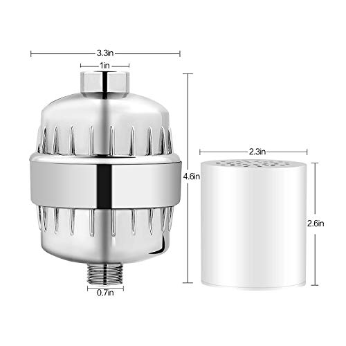 ~ 15 Stage Shower Filter High Output Revitalizing Hard Water Shower Filters to