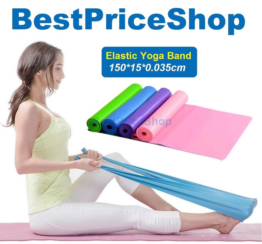 150*15*0.035cm Yoga Elastic Band Pilates Workout Aerobic Stretch Bands