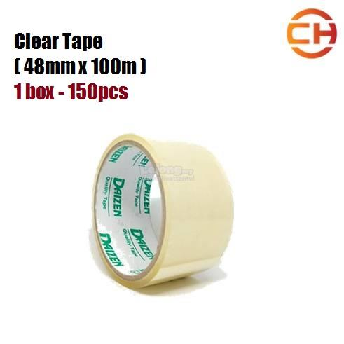 150 rolls (1box) 48mm x 100m Clear Tape ( Transparent )