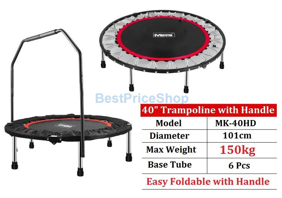 150kg 40 inch foldable trampoline ha end 1 20 2020 7 39 pm. Black Bedroom Furniture Sets. Home Design Ideas