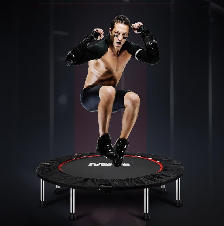 150kg 40 inch Foldable Trampoline Handle Exercise Rebounder MK-40HD