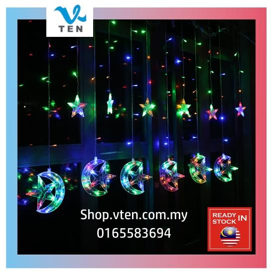 150LEDS 2.5meter Moon Star LED Curtain Light String Light Christmas
