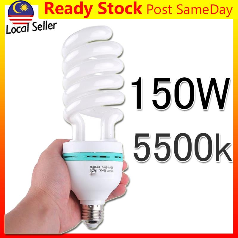 150W Photography Light Bulb Photo Studio Lamp 5500K E27 Lampu