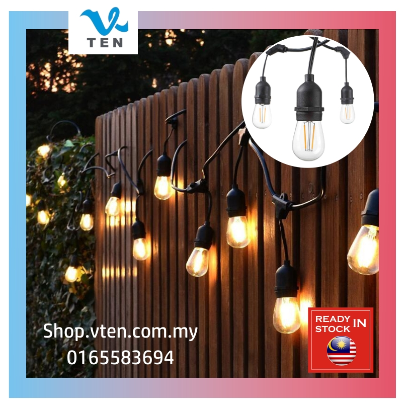 15Bulbs LED E27 Christmas S14 Vintage Ins Cafe Decor IP65 String Light