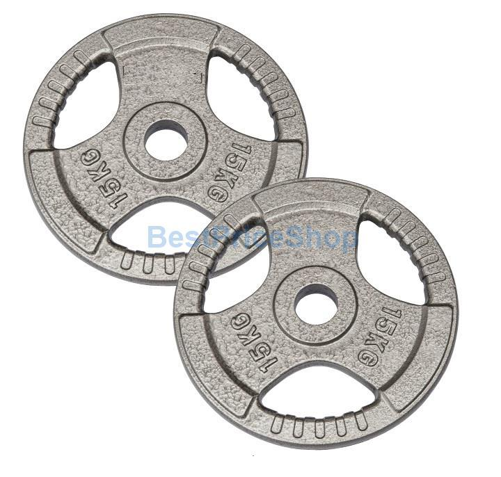 15KG 3CM Hole MARCY Cast Iron Dumbbell Barbell Plates Weight Plate