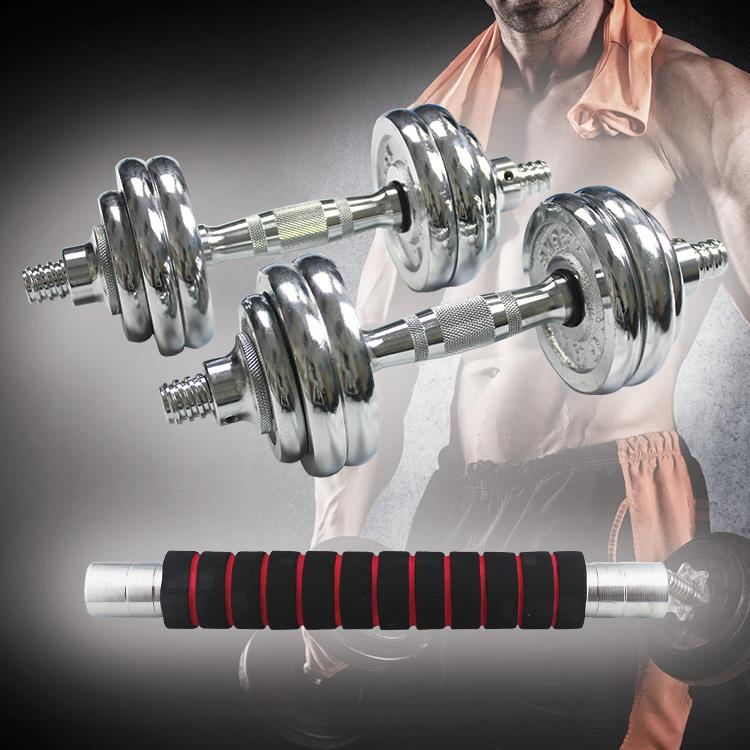 15KG Dumbbell Iron Chrome Set Adjustable Dumbbells with Box Iron Plate : dumbbell plate set - Pezcame.Com