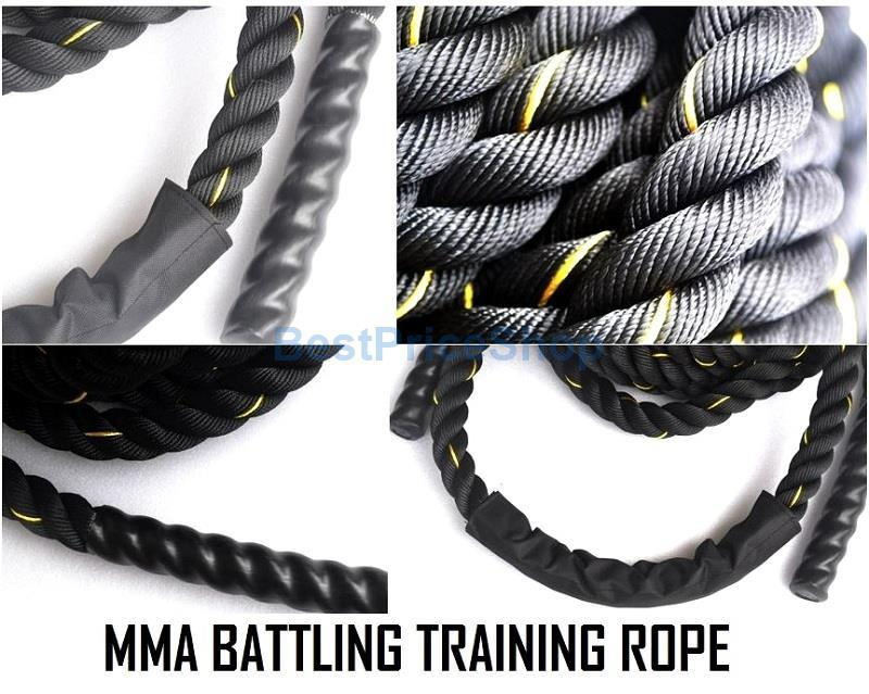 15m 38mm 50mm MMA Rope Battling Training Muscle Ropes Martial Art Gym