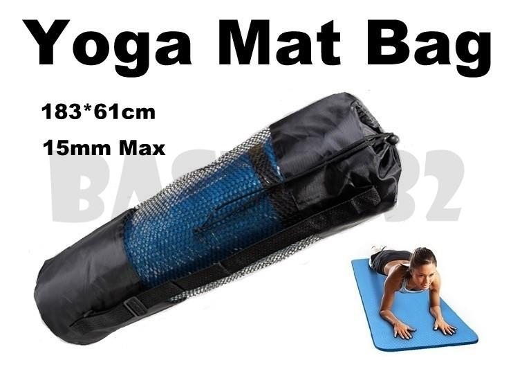 15mm Max  Adjustable Strap Yoga Pilates Mat Mesh Carrier Bag Backpack