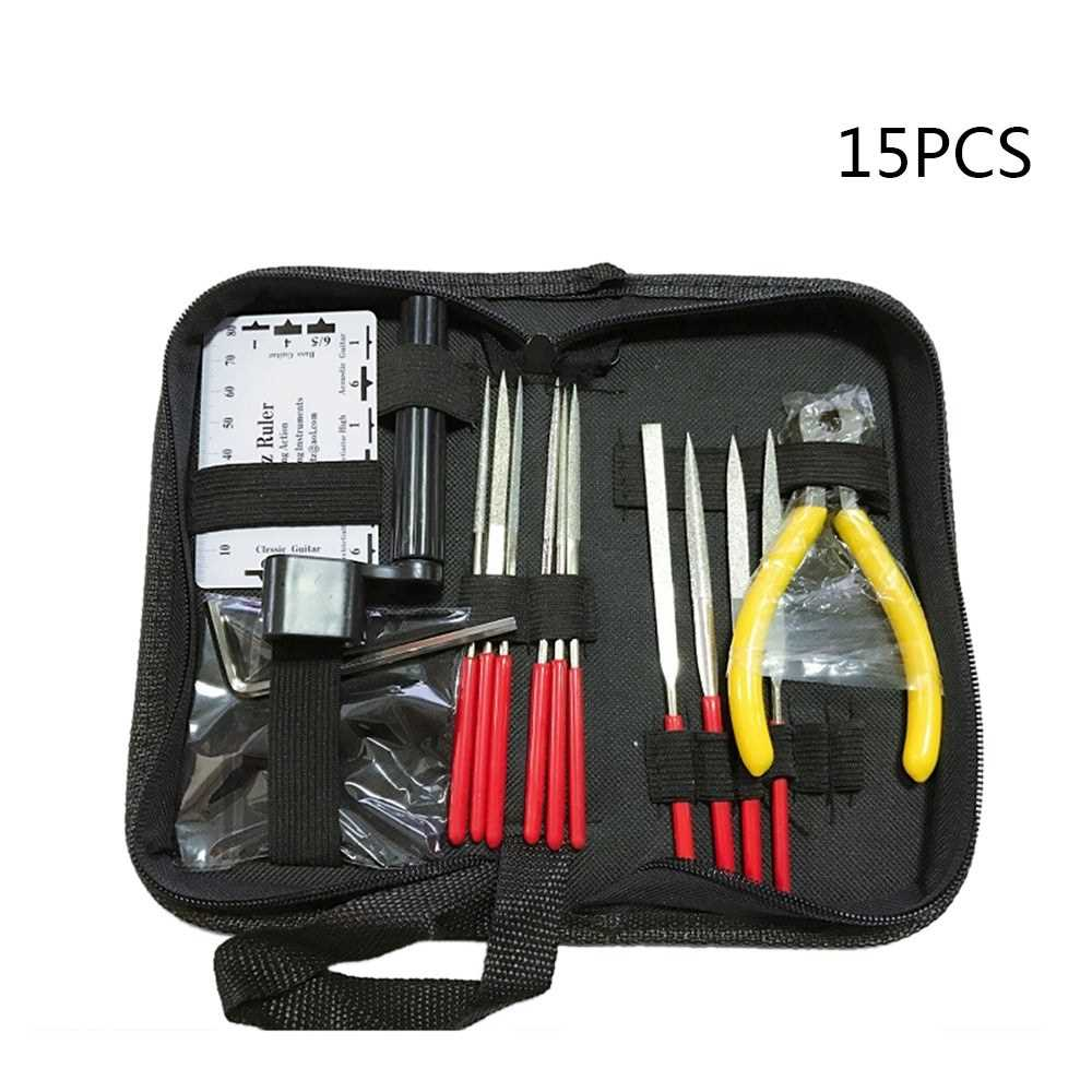 15Pcs Guitar Care Tool Repair Maintenance Tech Kit Set Guitar Fret