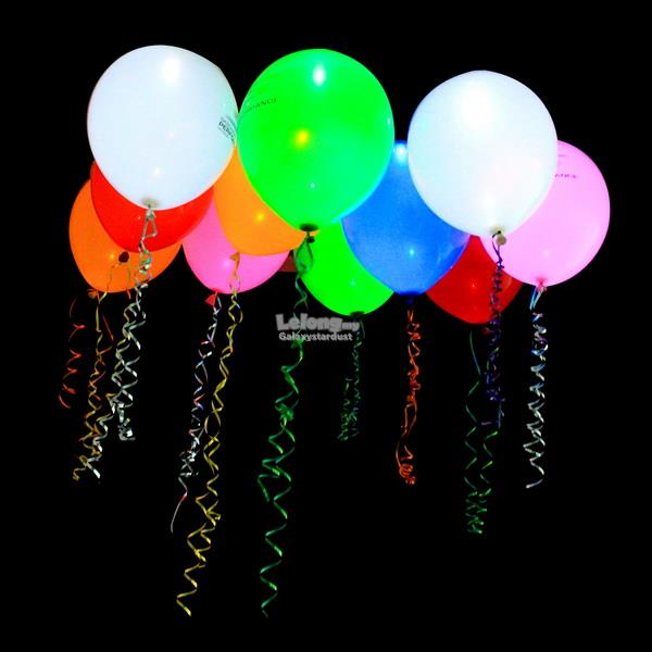 15pcs-LED Glow-Flashing Balloon-Colorful-White-Light Up-Party Deco