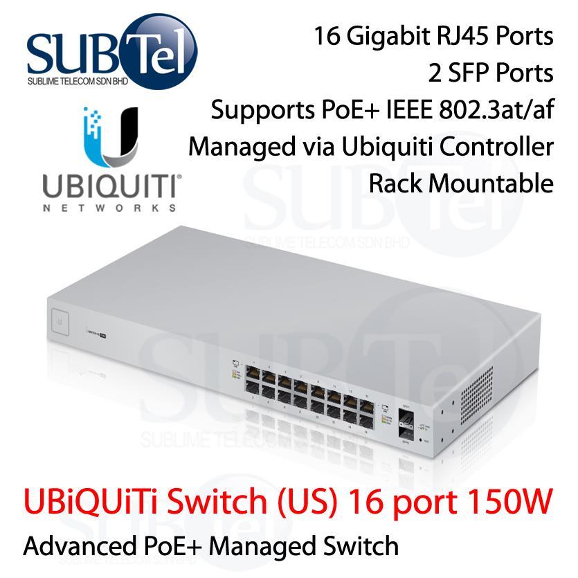 US-16-150W Ubiquiti Switch POE 16 port SFP UBNT 802 3af 802 3at