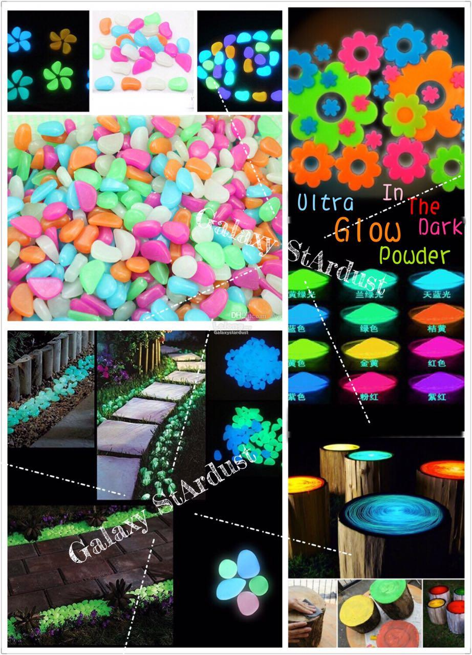 16 Color White Red Powder Paint Multi Purpose Diy Glow In The Dark