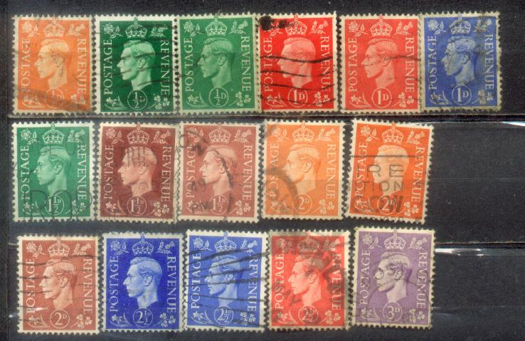 <B>16 Great Britain Nice Old Stamps Lot 1</B>
