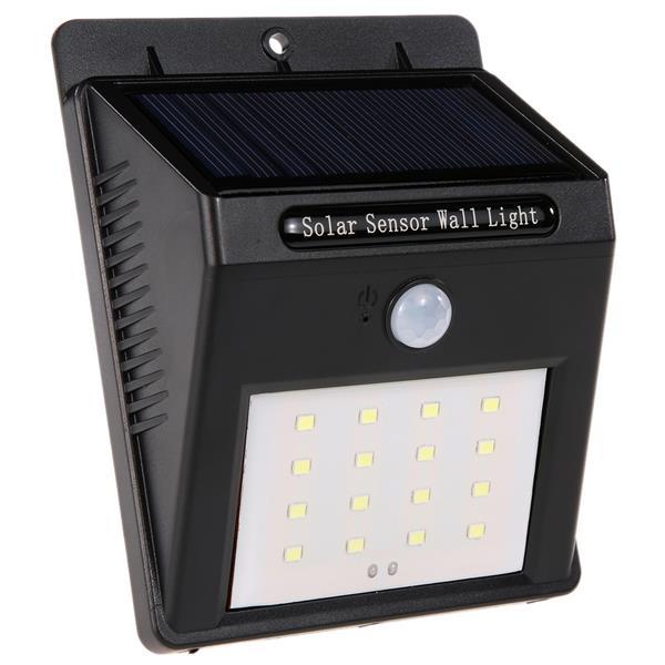 16 led solar wall light pir motion sensor garden street lamp 16 led solar wall light pir motion sensor garden street lamp aloadofball Choice Image