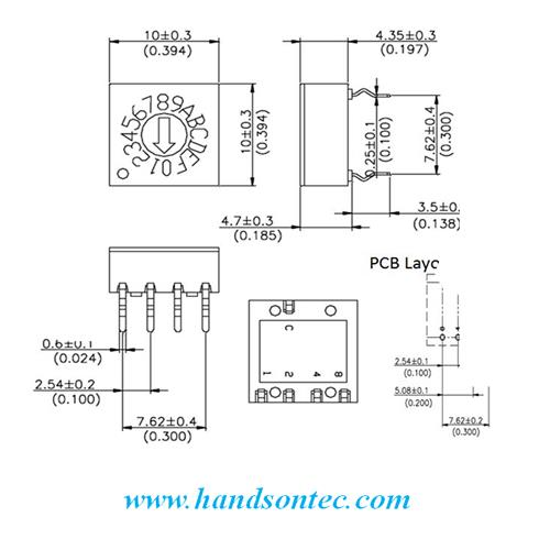 16-Position BCD Coded Rotary Switch