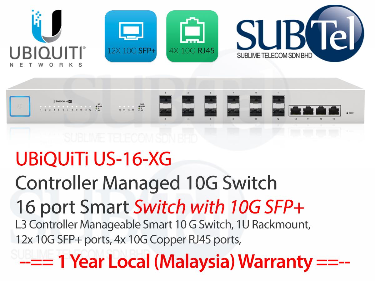 US-16-XG Ubiquiti US Switch 10G Smart 16 port SFP+ 10GBaseT Malaysia