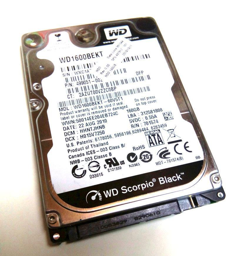 "160Gb SATA 2.5"" Laptop Hard Disk HDD Mix Brand Notebook Replace 250GB"