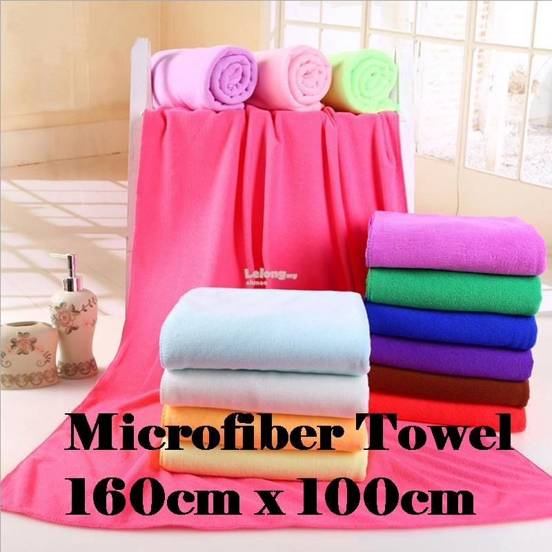 160x100cm Large Microfiber Bath Towel Quick Dry High Grade Absorption