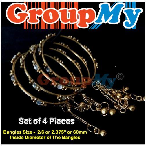 [1688] Indian Antique Style Fashion Costume Jewelry Bangle Gold Bracel