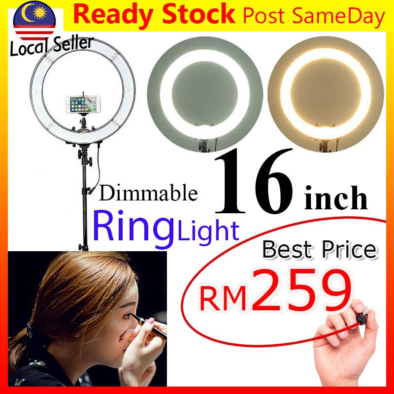 16inch 40cm LED Ring Light Dim Studio Lighting Make Up Lampu Live