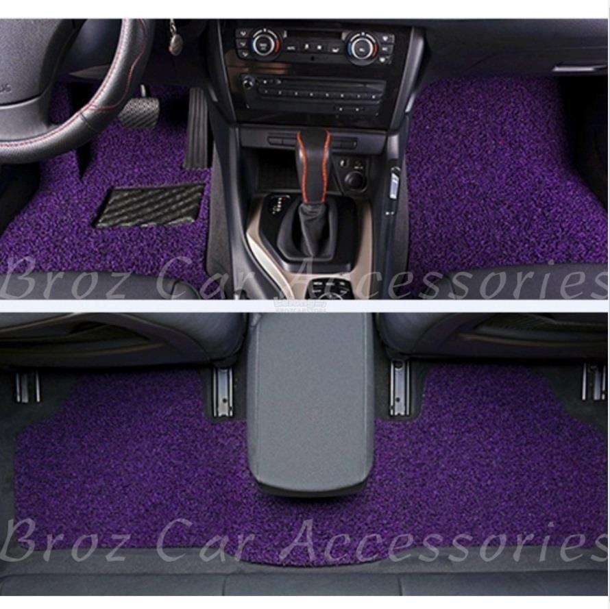 16MM 2 Tone Colour DIY Universal PVC Coil Floor Mat (Purple+Black)
