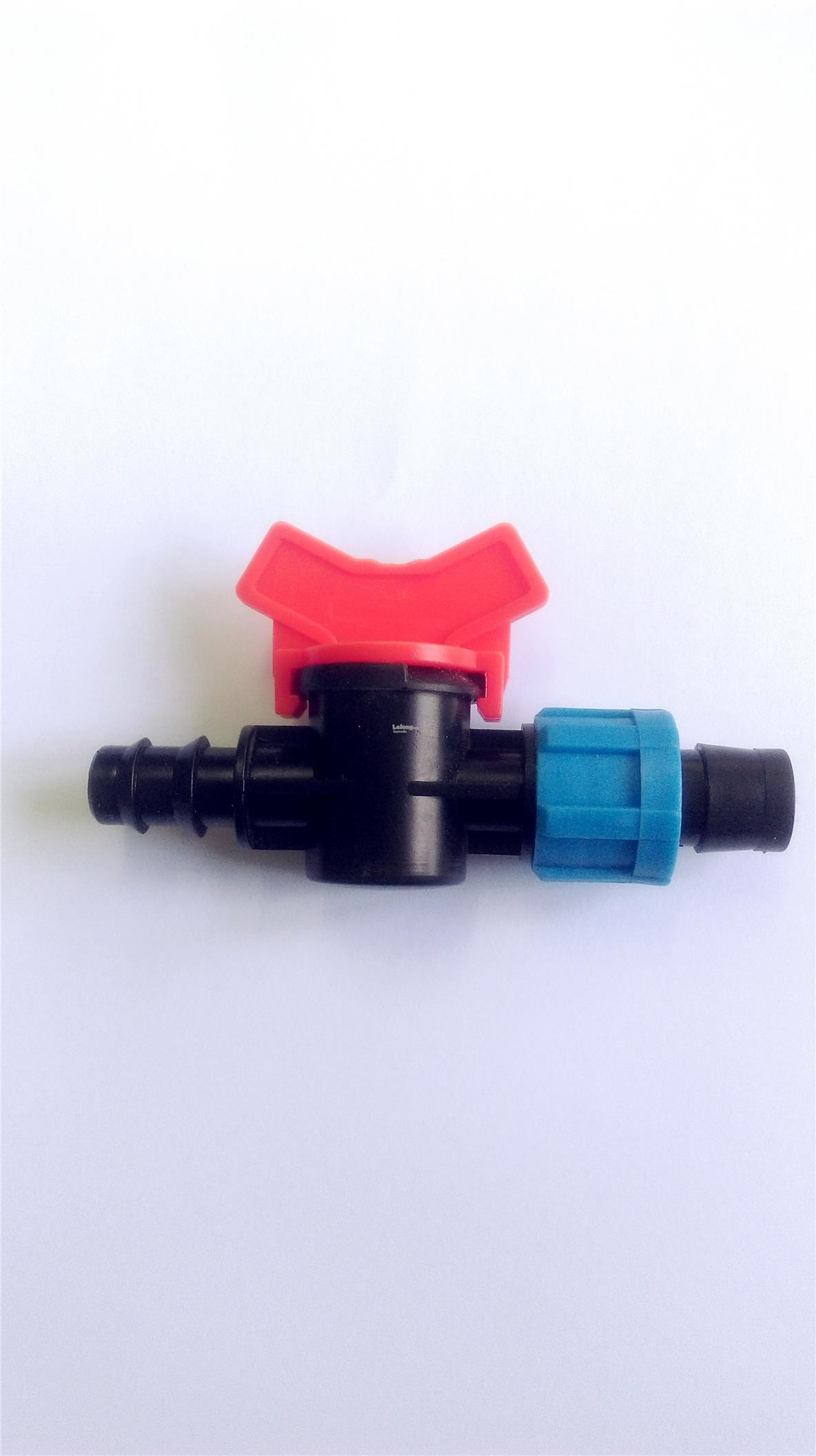 16mm x 16mm Offtake Connector Valve Irrigation for Driptape - 50 pcs