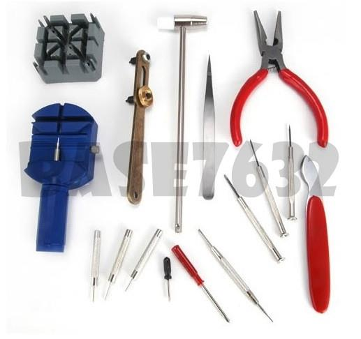 16pcs Watch Repair Tool Kit Band Open Back Case Link Remover